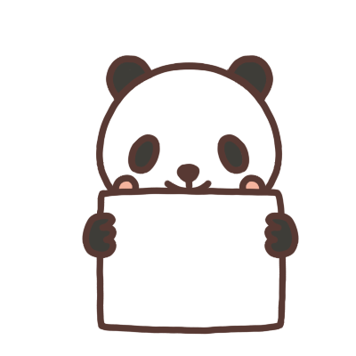 メッセージボードを持つパンダのイラスト