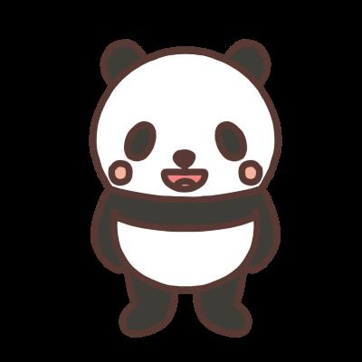 笑うパンダのイラスト