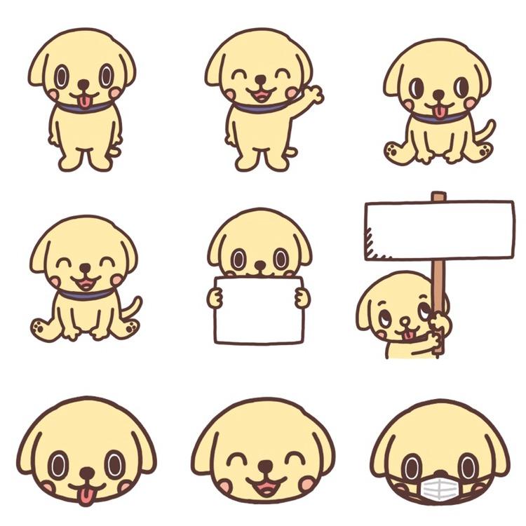 いろいろなパターンのイヌのイラスト