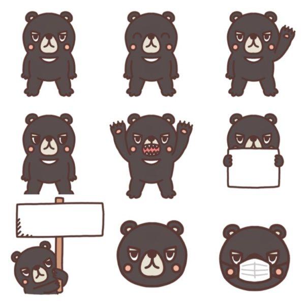 いろいろな種類のクマのイラスト