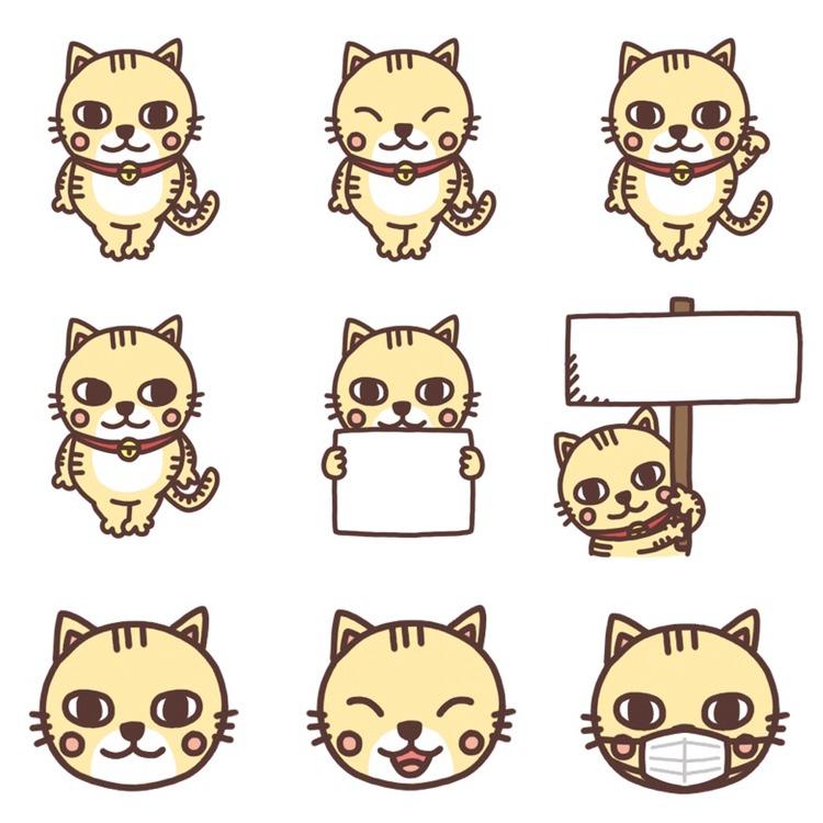 いろいろなパターンのネコのイラスト