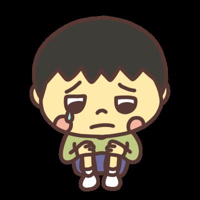 泣き顔の男の子