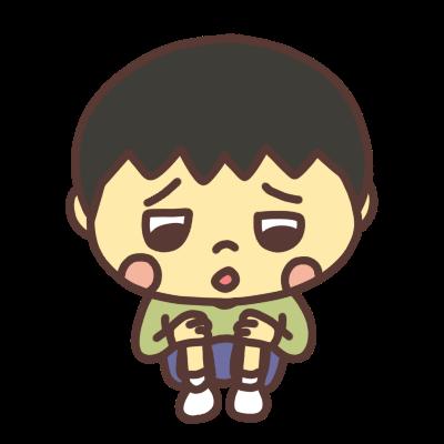 悲しい顔でつぶやく男の子