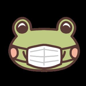 マスクをしたカエル