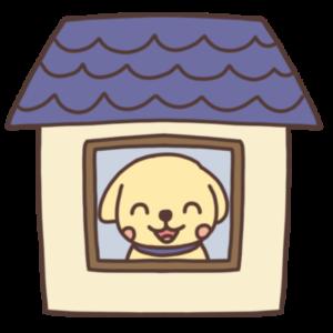 ステイホーム中のイヌのイラスト