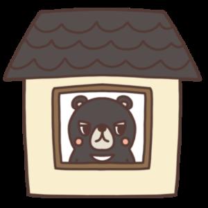 ステイホーム中のクマのイラスト