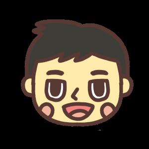 口を開ける男性のイラスト