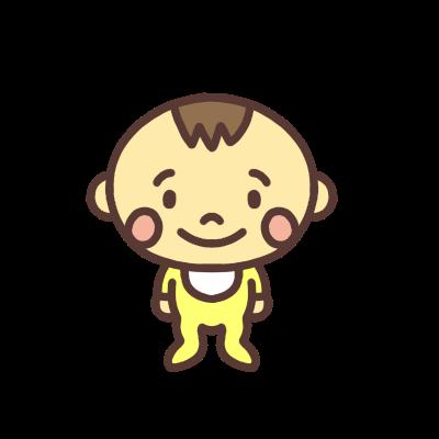 男の子の赤ちゃんのイラスト