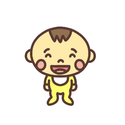 笑う男の子の赤ちゃんのイラスト