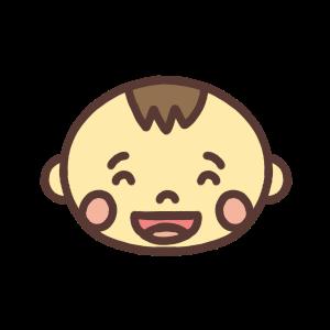 笑う男の子の赤ちゃんのアイコンイラスト