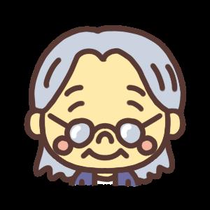 微笑むおばあちゃんのアイコンイラスト