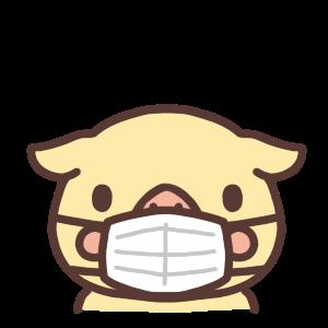 マスクをするブタのアイコン