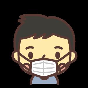 マスクをする男性のイラスト