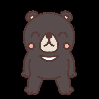 笑うクマのイラスト