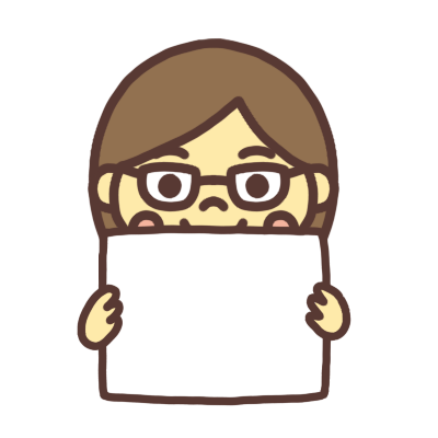 メッセージボードを持つ女子学生のイラスト