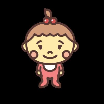 女の子の赤ちゃんのイラスト