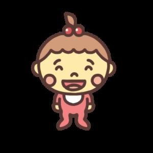 笑う女の子の赤ちゃんのイラスト