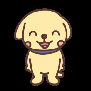 笑うイヌのイラスト