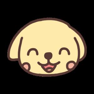 笑うイヌのアイコンイラスト