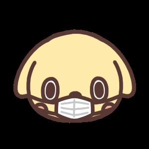 マスクをするイヌのアイコンイラスト