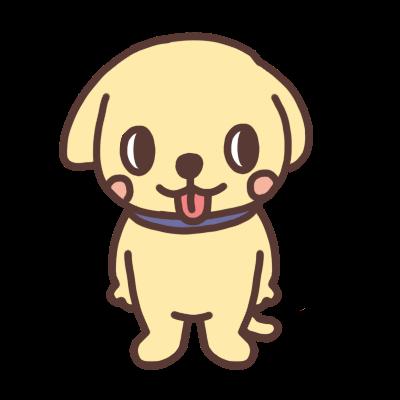 横を見るイヌのイラスト