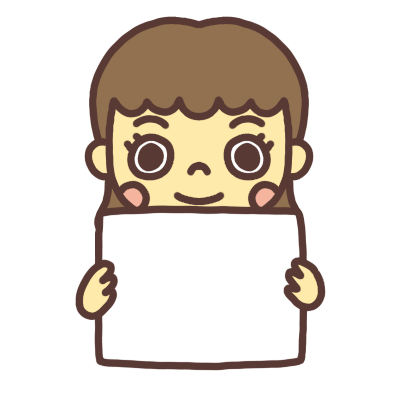 メッセージボードを持つ女性のイラスト