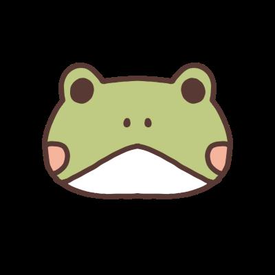 への字口のカエルのアイコン