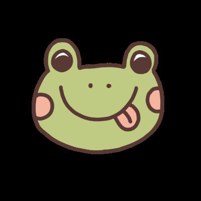 舌を出すカエルのアイコン