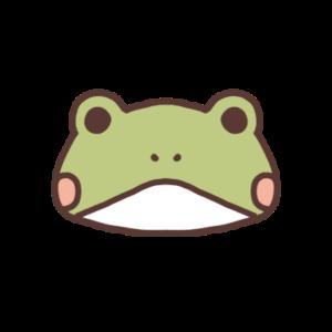 やせたカエルのアイコン
