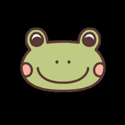 かわいいカエルのアイコン