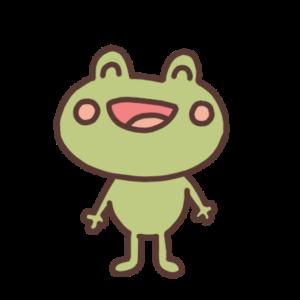 笑っているカエルのイラスト