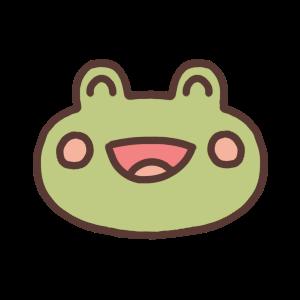 笑っているカエルのアイコンイラスト