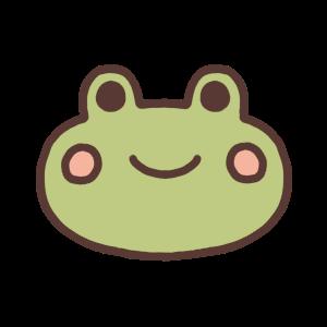 カエルの顔イラスト