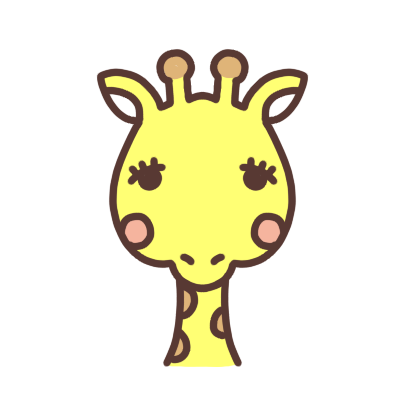 キリンのアイコンイラスト