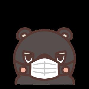 マスクをするクマのイラスト