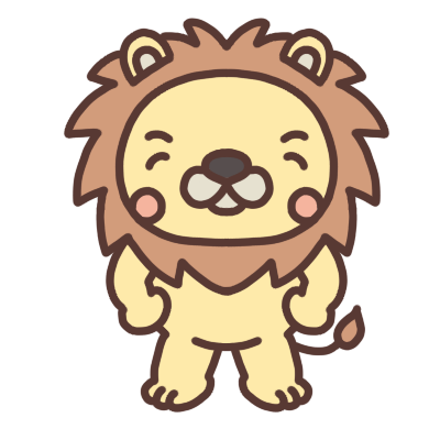 笑うライオンのイラスト