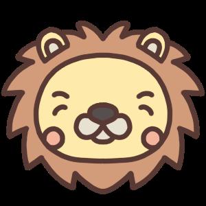 笑うライオンのアイコンイラスト
