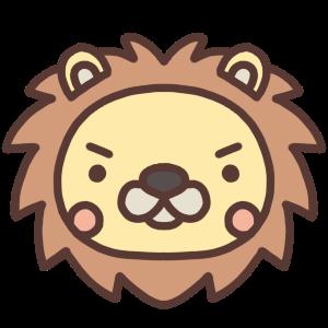 ライオンのアイコンイラスト