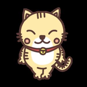微笑むネコのイラスト