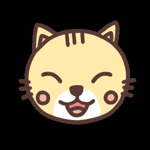 笑うネコのアイコンイラスト