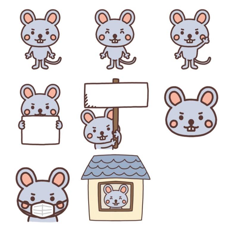 いろいろな種類のネズミのイラスト