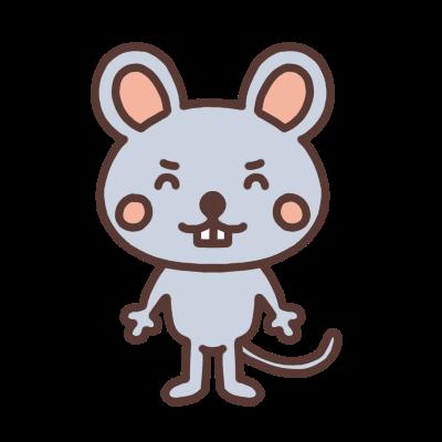 笑うネズミのイラスト