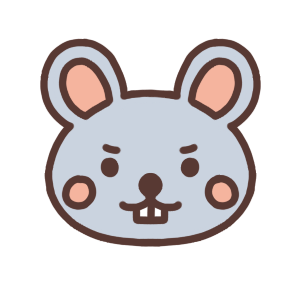 ネズミのアイコンイラスト