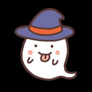 帽子をかぶったオバケ