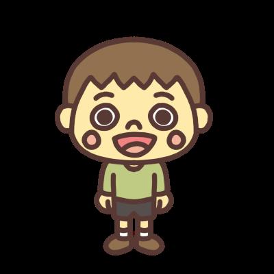 笑顔の男の子のイラスト