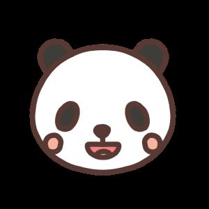 笑うパンダのアイコンイラスト