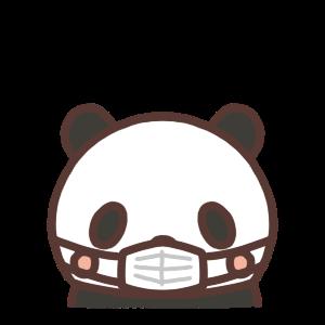 マスクをするパンダのイラスト