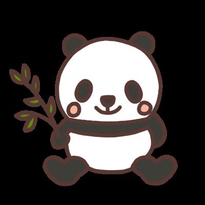 座るパンダのイラスト