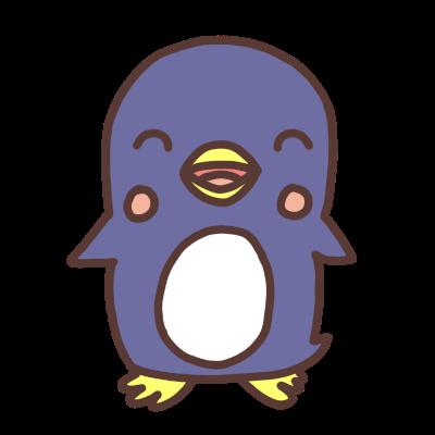 笑うペンギンのイラスト