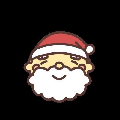 サンタクロースが笑う顔アイコン